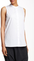 Eileen Fisher Sleeveless Lawn Shirt