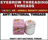 Vanity 100 SPOOLS OF ANTI BACTERIAL EYEBROW FACE THREADING THREADS by