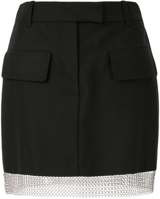 Vera Wang Chain Trimmed Mini Skirt