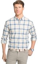 Izod Men's Saltwater Classic-Fit Plaid Oxford Button-Down Shirt