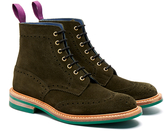 Tricker's 'Stow' Olive Suede Lace Up Brogue Boot