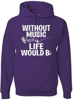 Go All Out Screenprinting Adult Without Music Life Would B Flat Funny Music Lovers Sweatshirt Hoodie