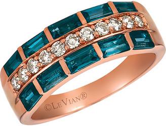 LeVian Le Vian 14K Rose Gold 1.12 Ct. Tw. Diamond & Topaz Ring