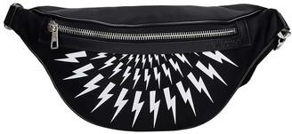 Neil Barrett Thunderbolt Waist Bag In Black Nylon