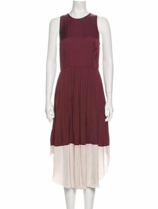 Ulla Johnson Crew Neck Long Dress Brown