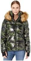 S13 Camo Faux Fur Kylie (Green Camo) Women's Clothing