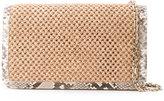 Casadei woven snake trim shoulder bag - women - Satin/Nappa Leather/Polyamide - One Size