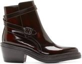 Yang Li Burgundy Leather Ankle Boots