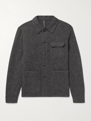 Incotex Melange Wool-Pique Overshirt - Men - Gray