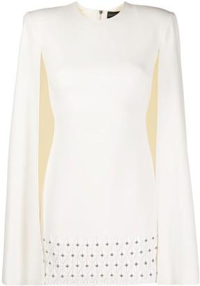 David Koma Studded Cape Dress