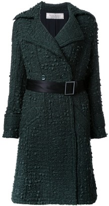Nina Ricci Double-Breasted Belted Coat