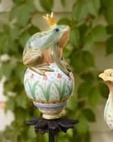 Mackenzie Childs MacKenzie-Childs Frog on Ball Garden Stake