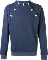 Pierre Balmain buttoned sweatshirt - men - Cotton - 50