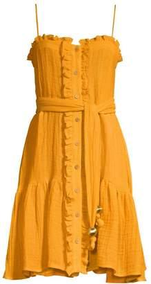 Lisa Marie Fernandez Ruffled Tie Flounce Dress