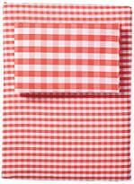 Serena & Lily Coral Gingham Sheet Set