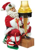 Kurt Adler A Christmas Story Light-Up Leg Lamp & Santa Table Decor by