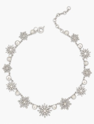 Talbots Crystal Snowflake Statement Necklace