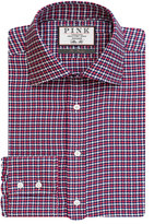 Thomas Pink Bowen Texture Slim Fit Button Cuff Shirt