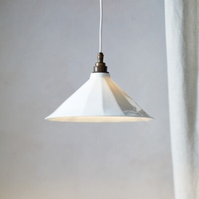 The White Company Audley Tapered Ceiling Light, White, One Size
