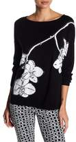 Joan Vass Orchid Knit Sequin Sweater
