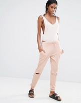 Missguided Rip Knee Track Pants