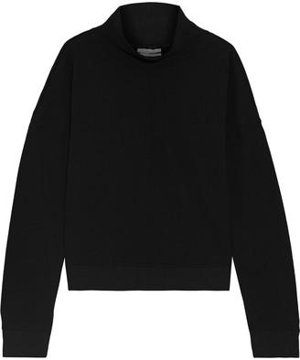 DKNY French Cotton-terry Turtleneck Sweatshirt