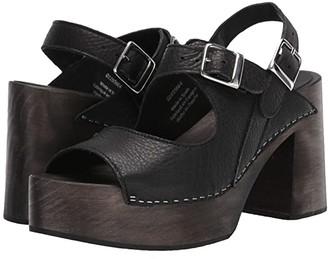 Free People Belem's Clog (Black) Women's Shoes