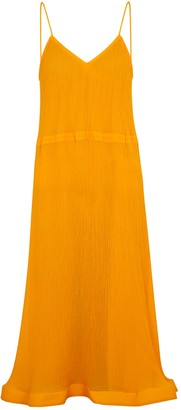 J.W.Anderson Yellow crinkled cotton-blend dress