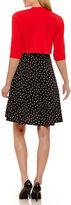 Robbie Bee Elbow Sleeve Jacket Dress-Petites