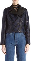 Yigal Azrouel Diamond Plaid Moto Jacket