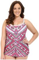Becca by Rebecca Virtue Plus Size Secret Garden One-Piece