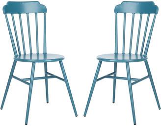 Safavieh Broderick Side Chair/Stackable/Matte Navy Blue