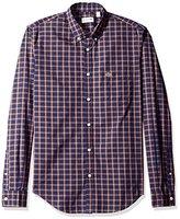 Lacoste Men's Long Sleeve Multi Color Plaid