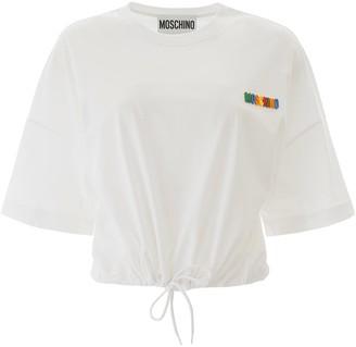 Moschino Drawstring T-shirt Rainbow Logo