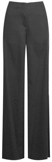 Diane von Furstenberg Printed Wide-Leg Pants with Silk