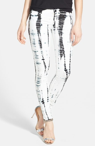 Hudson Jeans 'Krista' Stripe Super Skinny Jeans (Illusions)