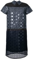 Kolor patch detail shift dress - women - Acrylic/Polyester/Wool - 2