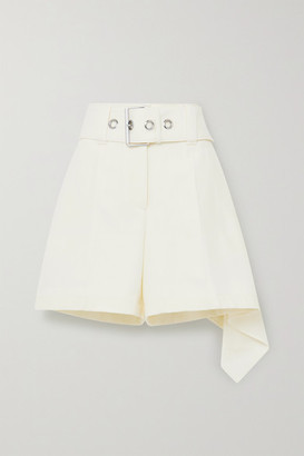 J.W.Anderson Belted Asymmetric Wool Shorts - White