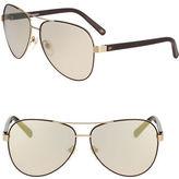 Diane Von Furstenberg 59mm Aviator Sunglasses