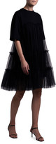 MSGM Tiered Tulle Shirtdress