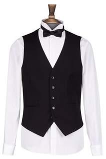 Dorothy Perkins Womens **Burton Black Stretch Slim Fit Tuxedo Waistcoat, Black