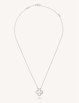 Van Cleef & Arpels Women's White Gold Vintage Alhambra And Mother-Of-Pearl Pendant