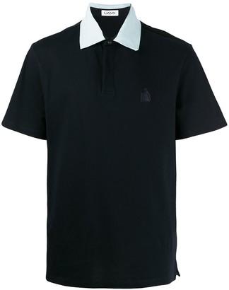 Lanvin Contrasting Collar Polo Shirt