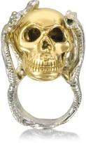 Bernard Delettrez Four Snakes Ring w/Bronze Skull