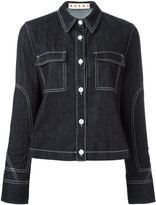Marni contrast stitch denim jacket - women - Cotton/Spandex/Elastane - 40
