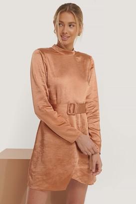 Erica Kvam X NA-KD High Neck Satin Dress