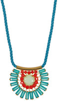Carolee Nassau Nights Pave Stone Baquette Necklace