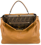 Fendi Large Leather Peekaboo Bag