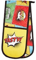 "Kitchen Craft Comic Strip"" Patterned Cotton Double Oven Glove"