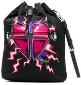 Prada heart print bucket bag